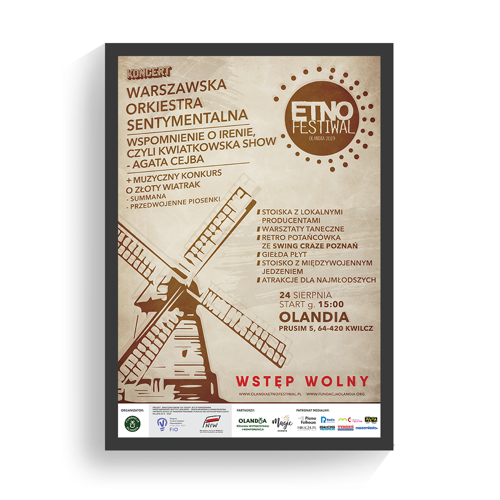 Plakat Olandia Etno Festiwal 2019